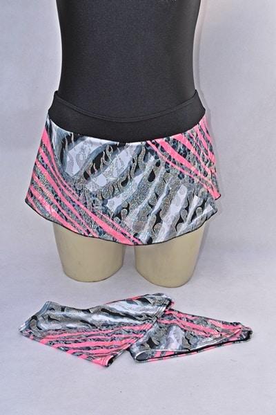 faldas patinaje artistico con fundas estampadas outlet patin llamas-plata