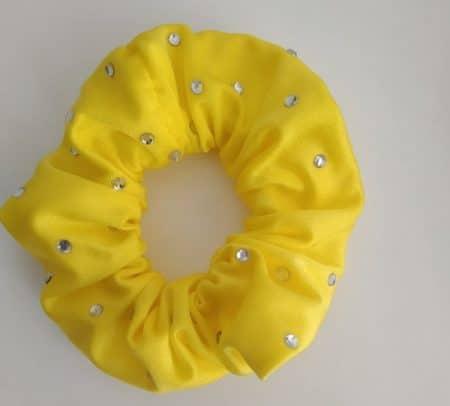 coleteros color amarillo con strass
