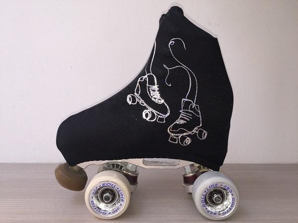 outlet-patín-Fundas negras patines plata