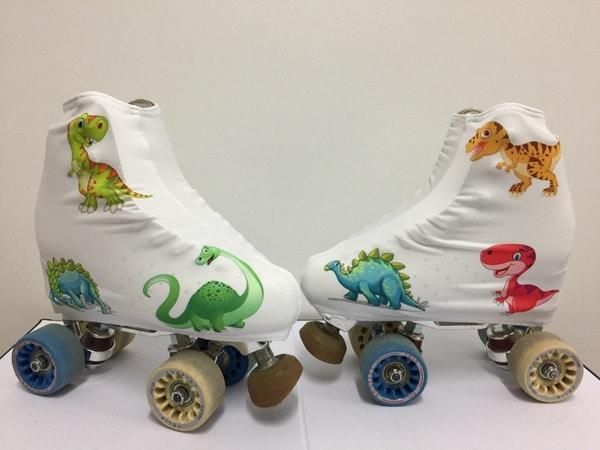 fundas patines sublimadas dinosaurios