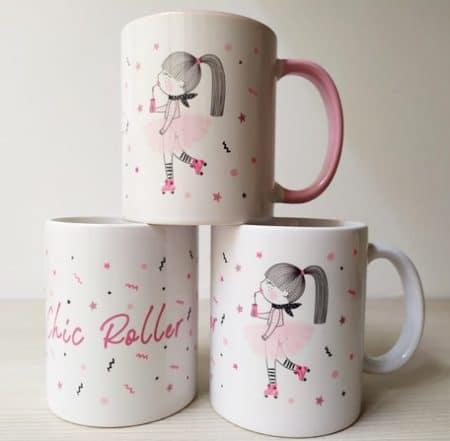 tazas chic roller rosa